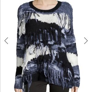 Elizabeth and James Long Sleeve Sweater w/ fringe
